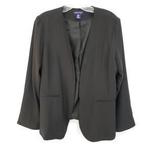 Adrienne Vittadini Black Jacket Suit Blazer